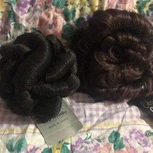 Other - New curly Hair Bun with Tag